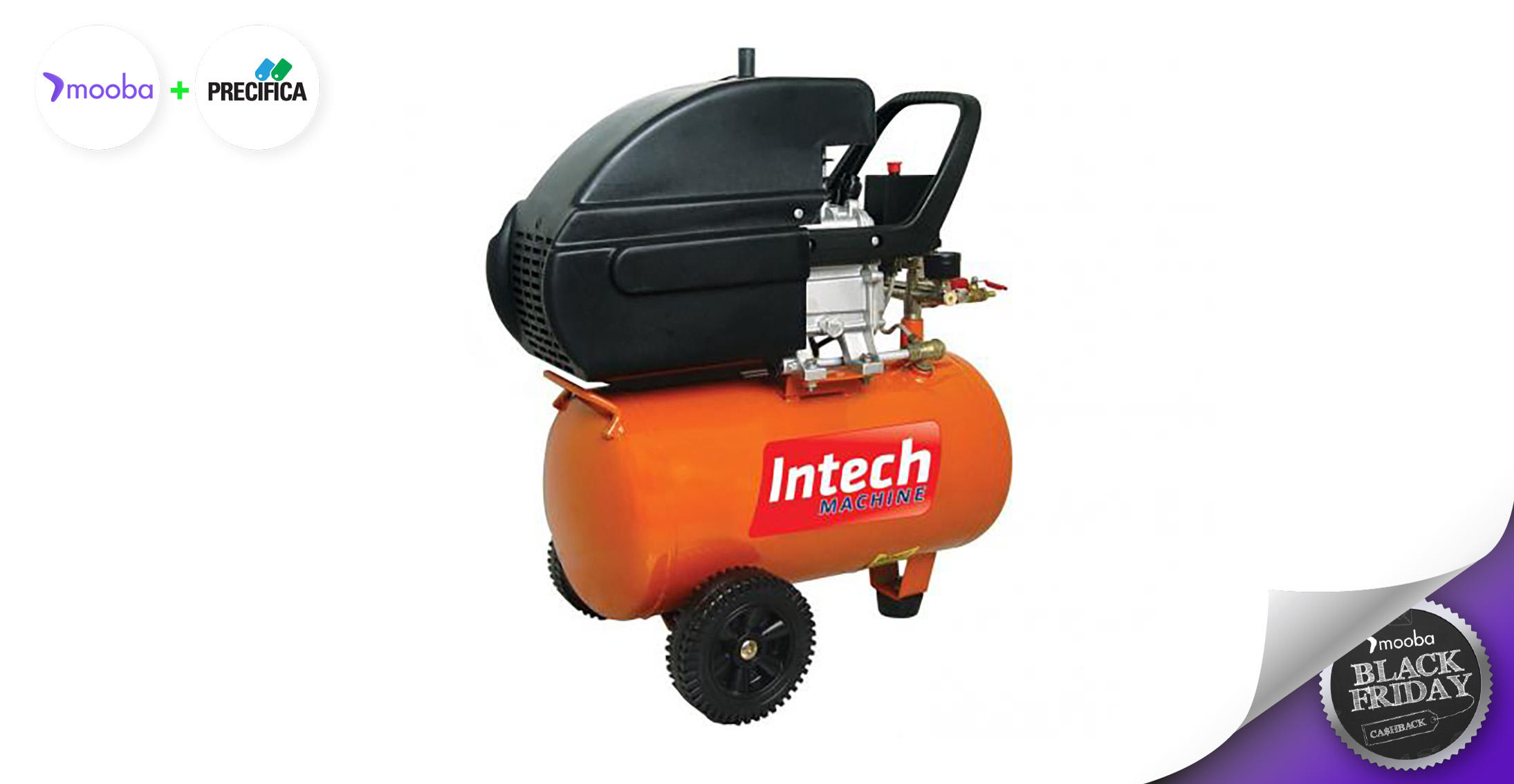 Compressor de Ar Intech Machine CE 320 - 1100W 20L 1,5HP - 110V